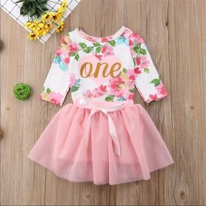 Other - Brand New First Birthday Baby Girl Outfit 12-18M